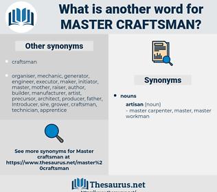 master craftsman, synonym master craftsman, another word for master craftsman, words like master craftsman, thesaurus master craftsman