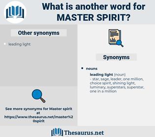 master spirit, synonym master spirit, another word for master spirit, words like master spirit, thesaurus master spirit