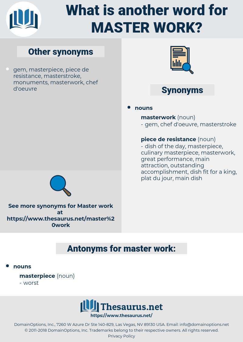 master work, synonym master work, another word for master work, words like master work, thesaurus master work