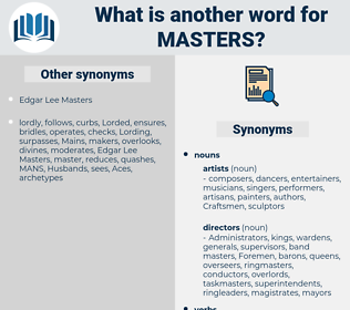 masters, synonym masters, another word for masters, words like masters, thesaurus masters