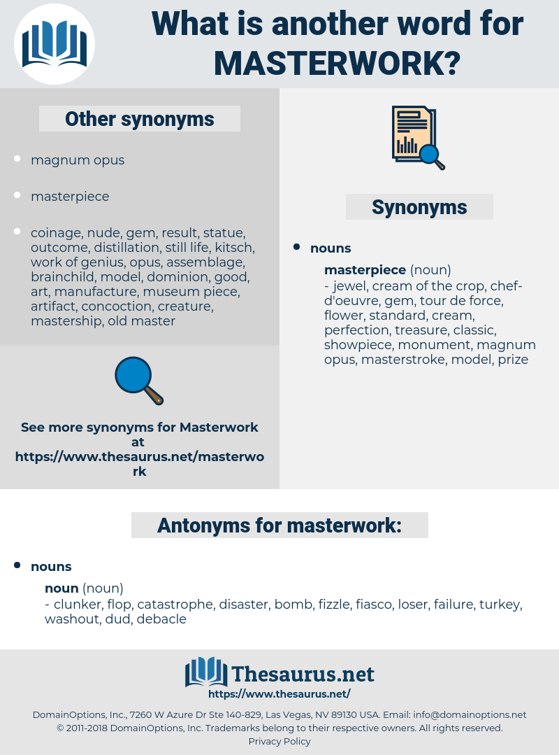 masterwork, synonym masterwork, another word for masterwork, words like masterwork, thesaurus masterwork