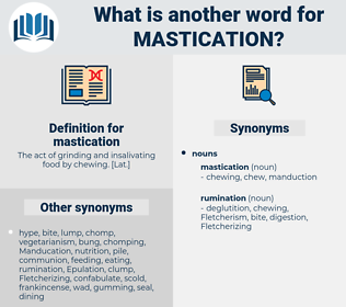 mastication, synonym mastication, another word for mastication, words like mastication, thesaurus mastication