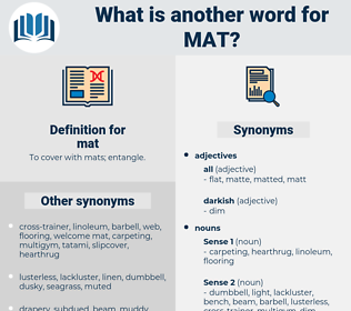 mat, synonym mat, another word for mat, words like mat, thesaurus mat