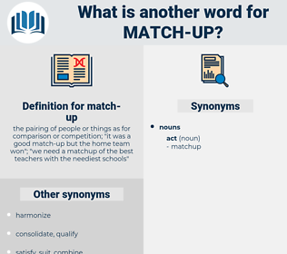 match up, synonym match up, another word for match up, words like match up, thesaurus match up