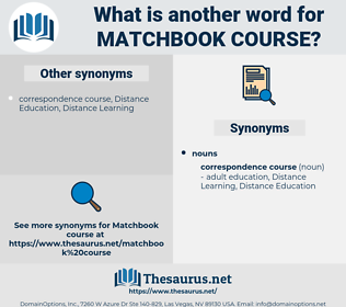 matchbook course, synonym matchbook course, another word for matchbook course, words like matchbook course, thesaurus matchbook course