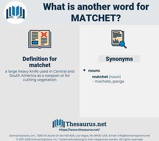 matchet, synonym matchet, another word for matchet, words like matchet, thesaurus matchet