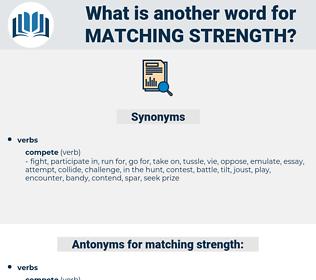 matching strength, synonym matching strength, another word for matching strength, words like matching strength, thesaurus matching strength