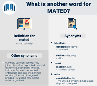mated, synonym mated, another word for mated, words like mated, thesaurus mated