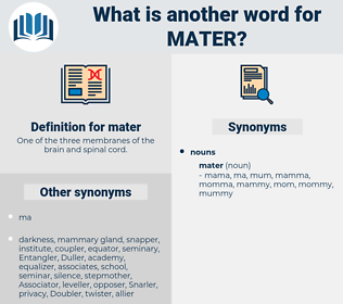mater, synonym mater, another word for mater, words like mater, thesaurus mater
