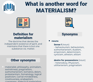 materialism, synonym materialism, another word for materialism, words like materialism, thesaurus materialism