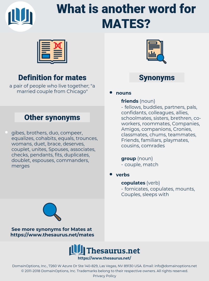 mates, synonym mates, another word for mates, words like mates, thesaurus mates