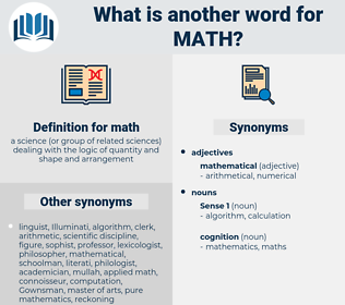 math, synonym math, another word for math, words like math, thesaurus math