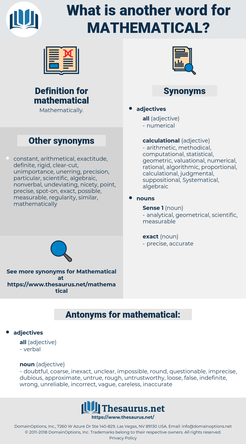 mathematical, synonym mathematical, another word for mathematical, words like mathematical, thesaurus mathematical