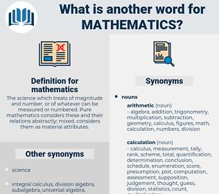 mathematics, synonym mathematics, another word for mathematics, words like mathematics, thesaurus mathematics