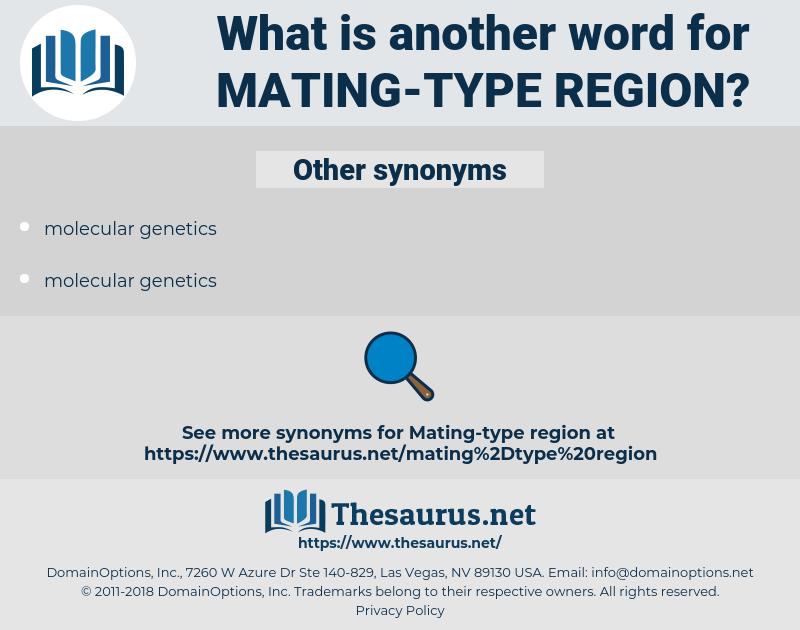 mating-type region, synonym mating-type region, another word for mating-type region, words like mating-type region, thesaurus mating-type region
