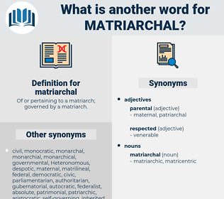 matriarchal, synonym matriarchal, another word for matriarchal, words like matriarchal, thesaurus matriarchal