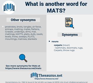 Mats, synonym Mats, another word for Mats, words like Mats, thesaurus Mats