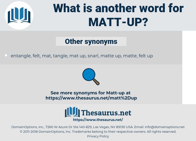 matt-up, synonym matt-up, another word for matt-up, words like matt-up, thesaurus matt-up