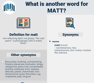 matt, synonym matt, another word for matt, words like matt, thesaurus matt