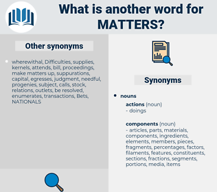 matters, synonym matters, another word for matters, words like matters, thesaurus matters