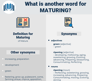 Maturing, synonym Maturing, another word for Maturing, words like Maturing, thesaurus Maturing