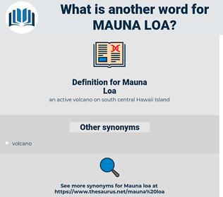 Mauna Loa, synonym Mauna Loa, another word for Mauna Loa, words like Mauna Loa, thesaurus Mauna Loa