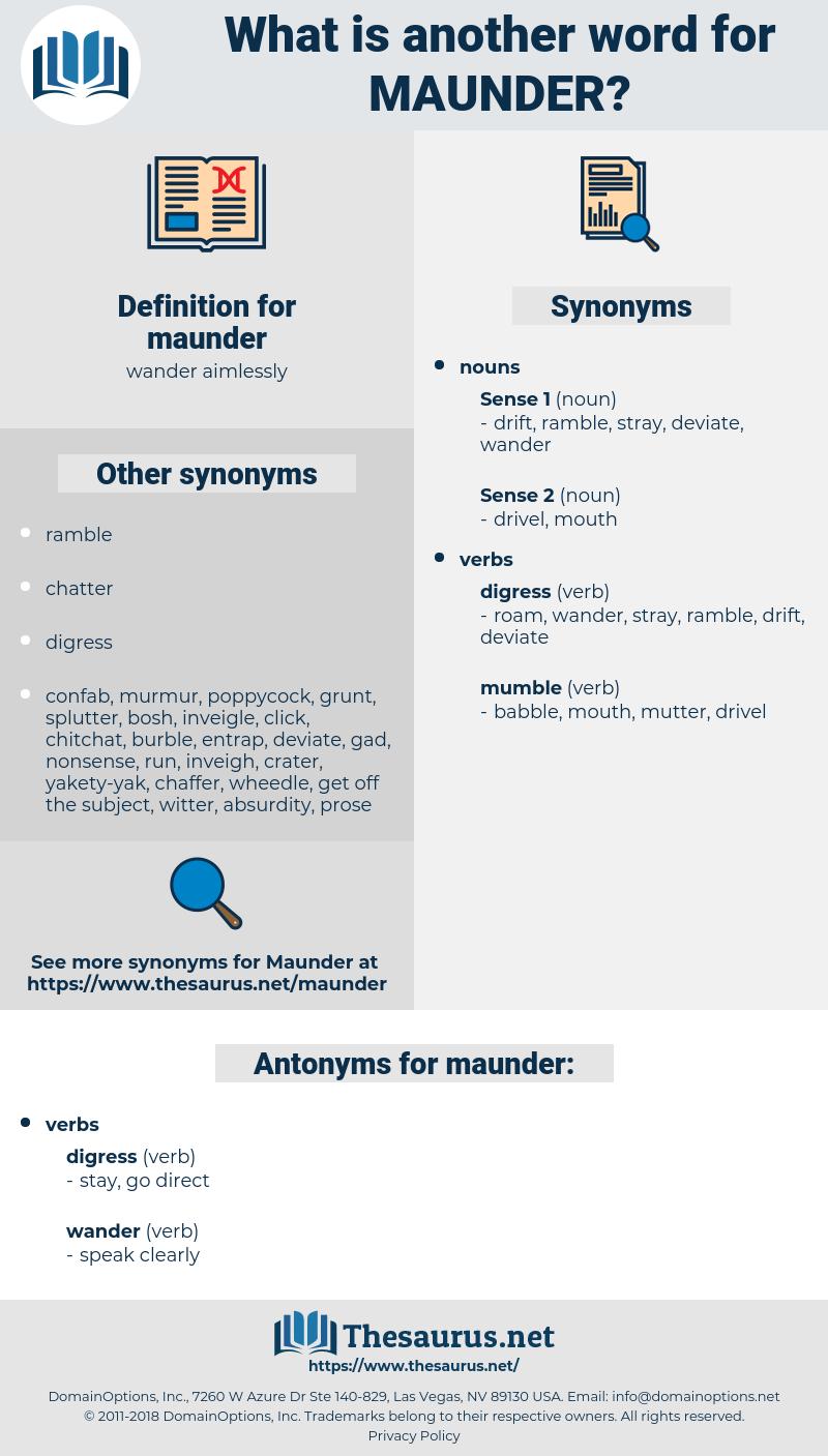 maunder, synonym maunder, another word for maunder, words like maunder, thesaurus maunder