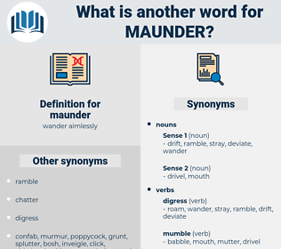 maunder, synonym maunder, another word for maunder, words like maunder, thesaurus maunder