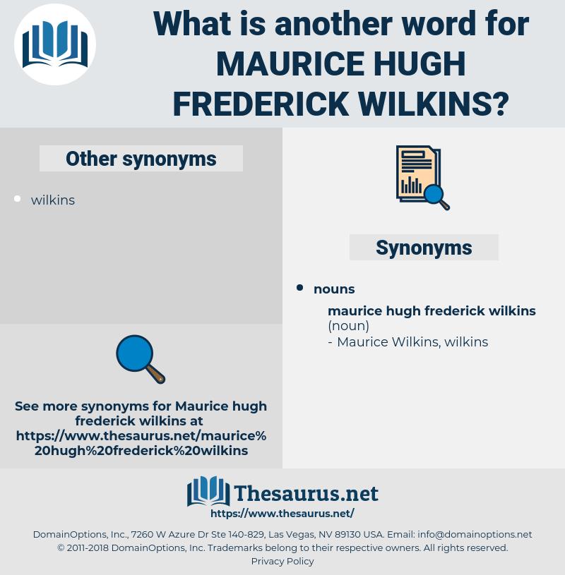 Maurice Hugh Frederick wilkins, synonym Maurice Hugh Frederick wilkins, another word for Maurice Hugh Frederick wilkins, words like Maurice Hugh Frederick wilkins, thesaurus Maurice Hugh Frederick wilkins