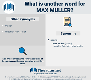 Max Muller, synonym Max Muller, another word for Max Muller, words like Max Muller, thesaurus Max Muller