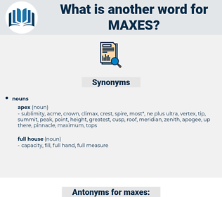 maxes, synonym maxes, another word for maxes, words like maxes, thesaurus maxes