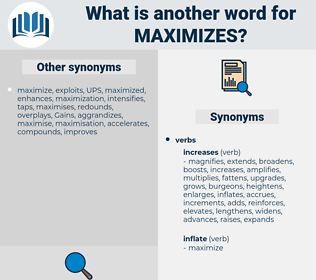 maximizes, synonym maximizes, another word for maximizes, words like maximizes, thesaurus maximizes