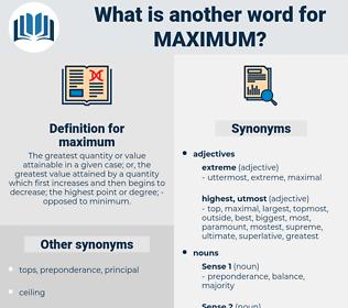 maximum, synonym maximum, another word for maximum, words like maximum, thesaurus maximum
