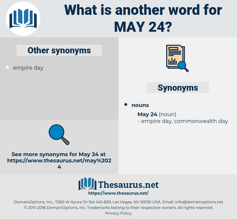may 24, synonym may 24, another word for may 24, words like may 24, thesaurus may 24