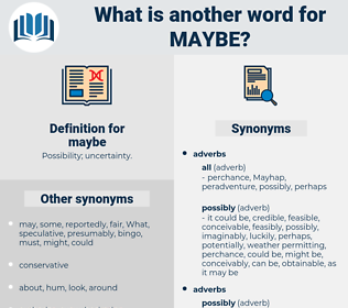 maybe, synonym maybe, another word for maybe, words like maybe, thesaurus maybe