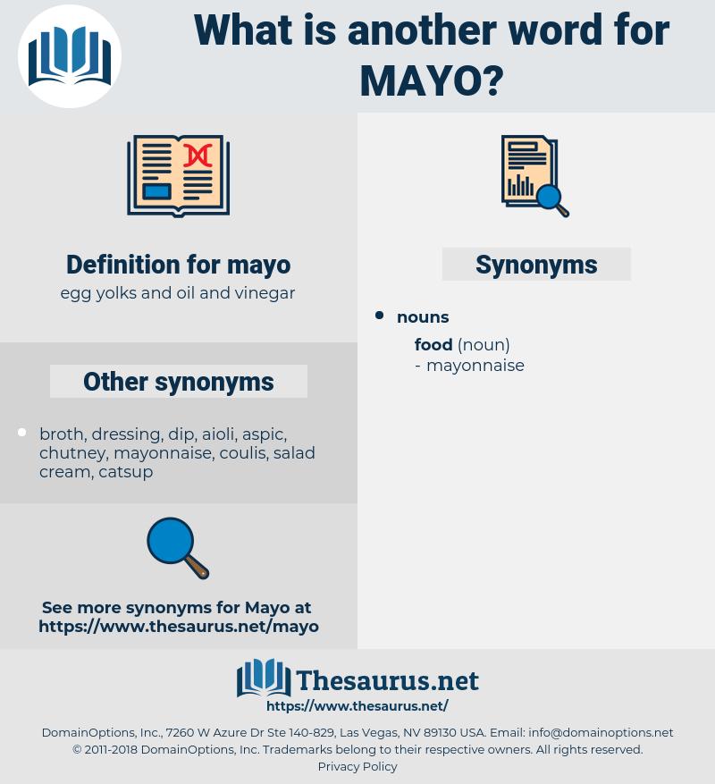 mayo, synonym mayo, another word for mayo, words like mayo, thesaurus mayo