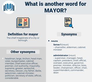 mayor, synonym mayor, another word for mayor, words like mayor, thesaurus mayor