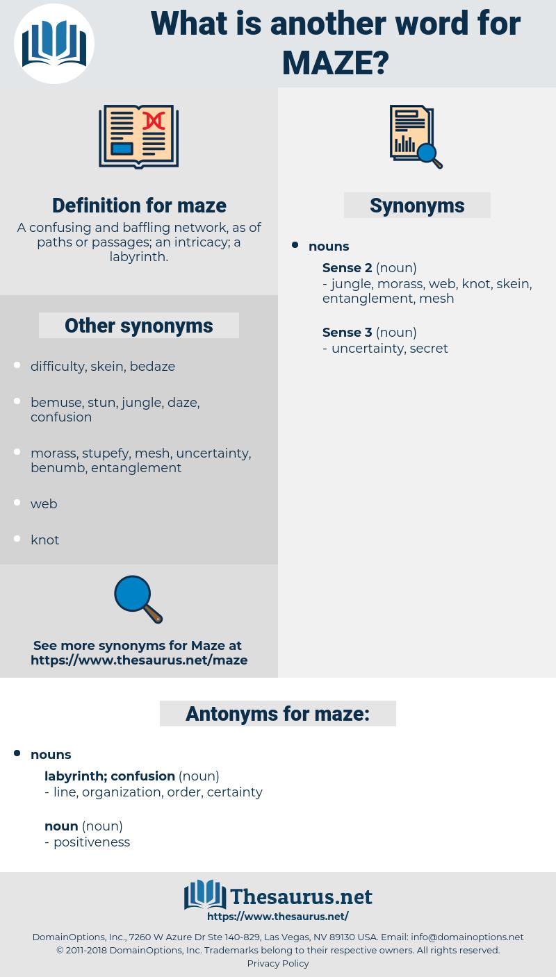 maze, synonym maze, another word for maze, words like maze, thesaurus maze