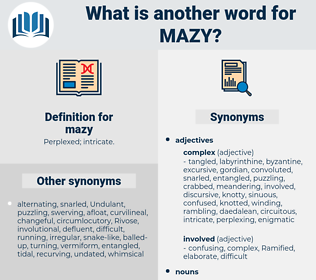 mazy, synonym mazy, another word for mazy, words like mazy, thesaurus mazy