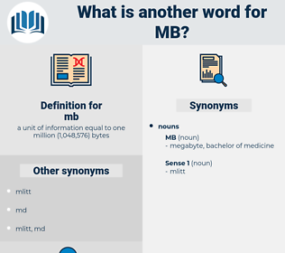 mb, synonym mb, another word for mb, words like mb, thesaurus mb