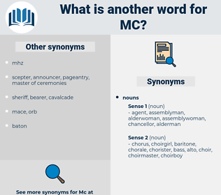 mc, synonym mc, another word for mc, words like mc, thesaurus mc