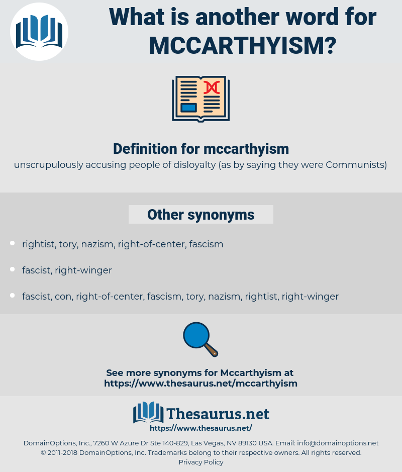 mccarthyism, synonym mccarthyism, another word for mccarthyism, words like mccarthyism, thesaurus mccarthyism