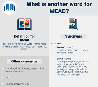 mead, synonym mead, another word for mead, words like mead, thesaurus mead