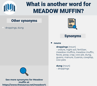 meadow muffin, synonym meadow muffin, another word for meadow muffin, words like meadow muffin, thesaurus meadow muffin