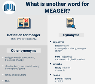 meager, synonym meager, another word for meager, words like meager, thesaurus meager