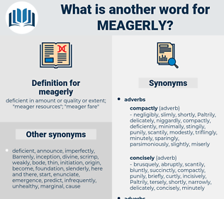 meagerly, synonym meagerly, another word for meagerly, words like meagerly, thesaurus meagerly