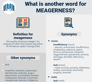 meagerness, synonym meagerness, another word for meagerness, words like meagerness, thesaurus meagerness