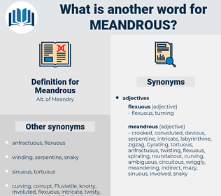 Meandrous, synonym Meandrous, another word for Meandrous, words like Meandrous, thesaurus Meandrous
