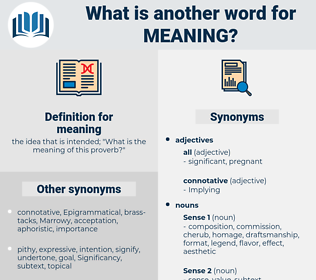 meaning, synonym meaning, another word for meaning, words like meaning, thesaurus meaning