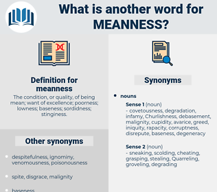 meanness, synonym meanness, another word for meanness, words like meanness, thesaurus meanness